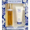 Diamonds & Sapphires Edt Spray 3.3 oz & Body Lotion 3.3 oz for women by Elizabeth Taylor