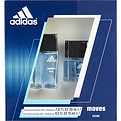 Adidas Moves Eau De Toilette Spray 1 oz & Eau De Toilette Spray .5 oz for men by Adidas