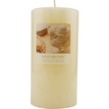 Vanilla Cream Essential Blend One 3x6 Inch Pillar Essential Blends Candle.  Burns Approx. 120 Hrs. for unisex by Vanilla Cream Essential Blend
