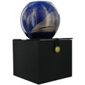 Cobalt Candle Globe The Inside Of This 4 In Polished Globe Is Painted With Wax To Create Swirls Of Gold And Rich Hues And Comes In A Satin Covered Gift Box. Candle Is Filled With A Translucent Wax And Scented With Mysteria. Burns Approx. 50 Hrs for unisex by Cobalt Candle Globe