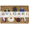 Bvlgari Omnia Mini Variety 7 Pieces With Omnia Amethyste Eau De Toilette & Jasmine Noir Eau De Parfum & Aqua Divina Eau De Toilette & Man In Black Eau De Parfum & Aqua Amara Eau De Toilette & Blv Pour Homme Eau De Toilette & Omnia Crystalline Eau De Toilette And All Are .5 oz Minis for unisex by Bvlgari