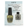 O.P.I Quick Let's Elope Set: 1x Drip Dry Lacquer Drying Drops, 1x Natural Nail Strengthener --2pcs for women