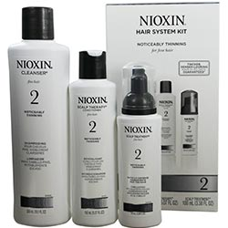 NIOXIN by Nioxin Number 2 Hair System Kit (Noticeable Thinning) With Cleanser 10.1 oz & Scalp Therapy 5.1 oz & Scalp Treatment 3.3 oz
